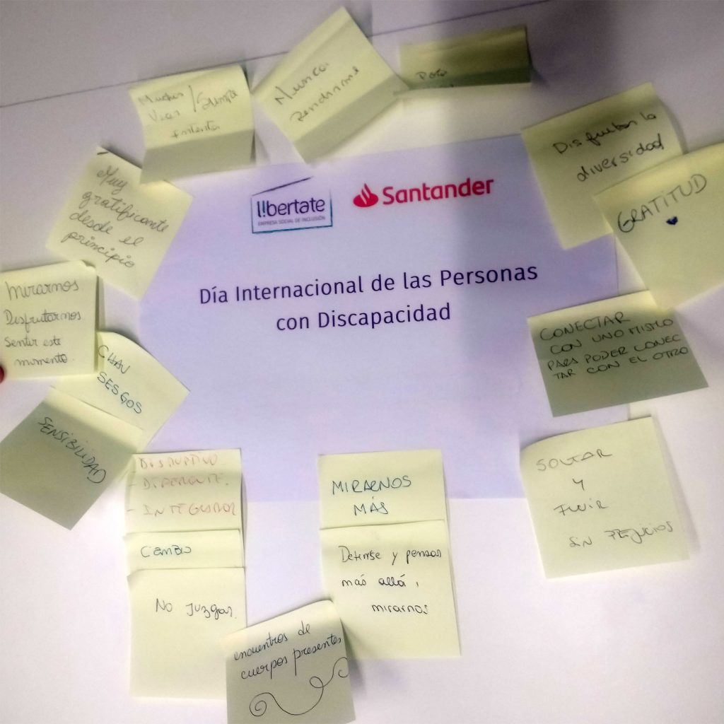 Actividad realizada con el Banco Santander